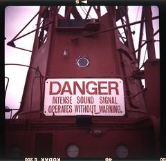 Danger Sign Trinity House Light Vessel