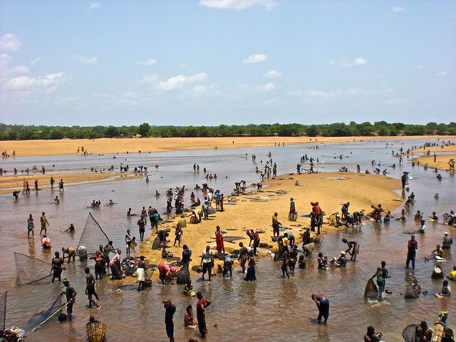 Bathing in the Niger River
