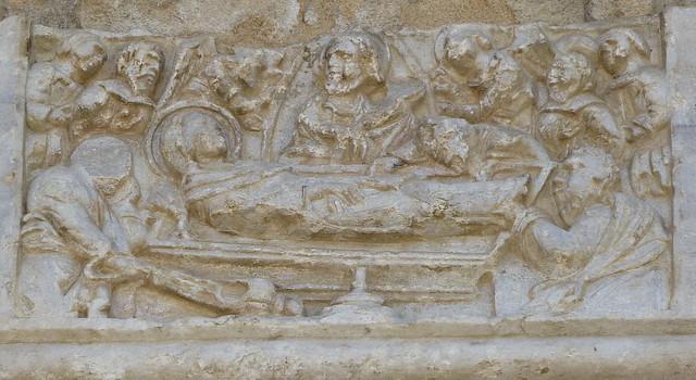 Nicosia, Bedesten - North portal: Death of Virgin Mary