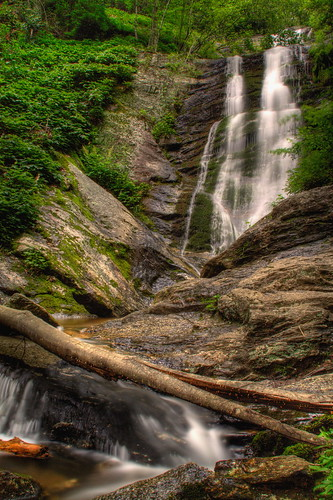 longexposure mountains nature waterfall nc logs northcarolina hdr naturephotography mcdowellcounty tomscreekfalls davidhopkinsphotography