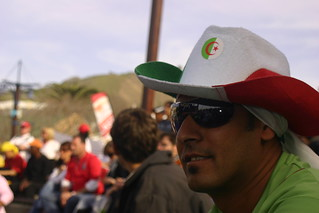 Algerian supporter at the V&A Waterfront