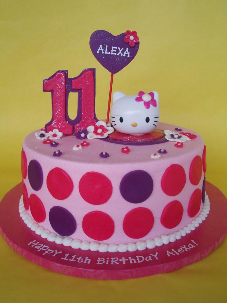 Pleasant Hello Kitty Birthday Cake A Modern Look For A Hello Kitty Flickr Funny Birthday Cards Online Drosicarndamsfinfo