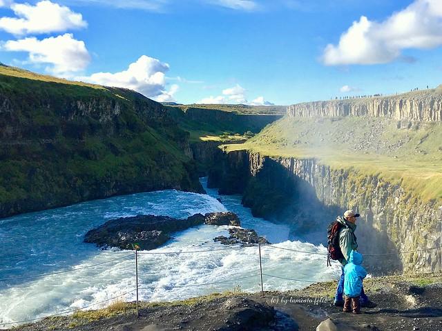La Cascada de Gullfoss-Islandia.