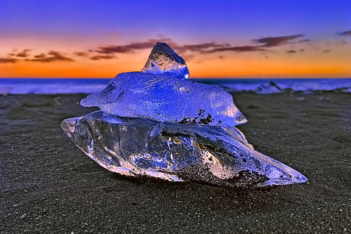 iceland iphoneography apple iphonese ice snail blacksandybeach southoficeland evening sunset jokulsarlon diamondbeach