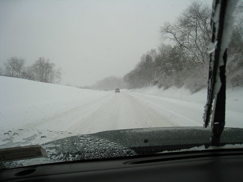 driving to Phili in the blizzard | by boodely