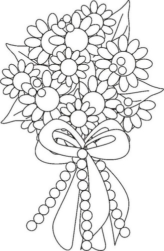 Flower Bouquet Coloring Page | by ktsaltishok