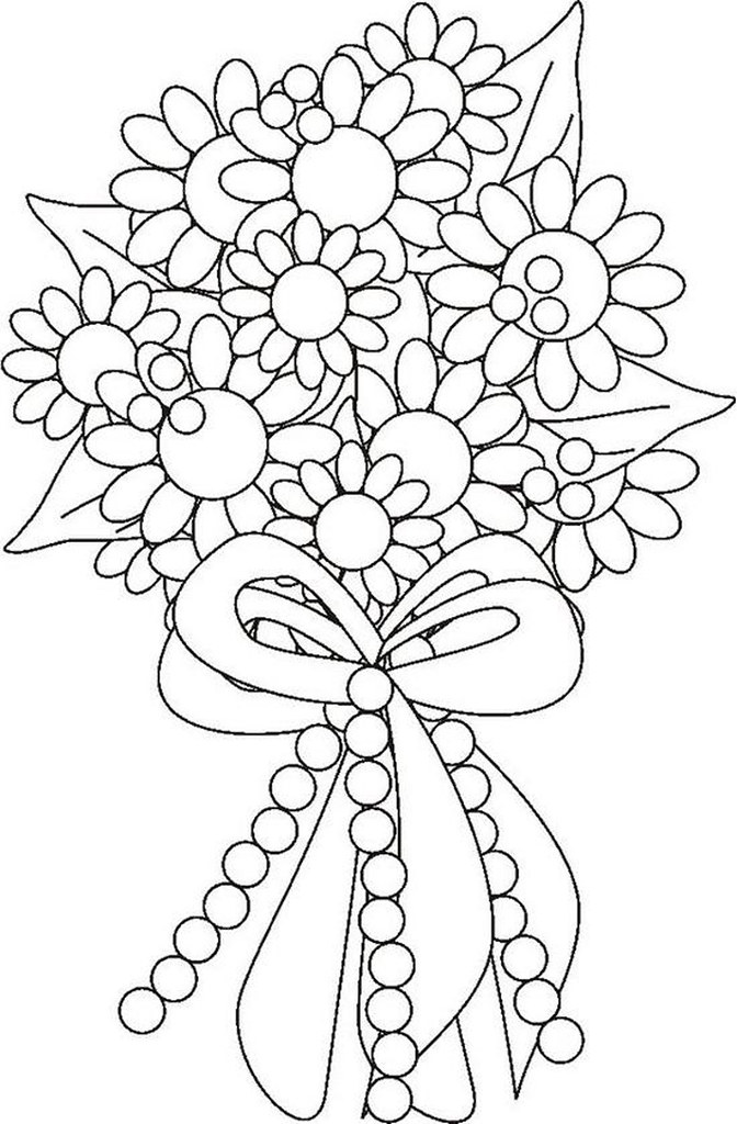 Flower Bouquet Coloring Page Katie Soltysiak Flickr