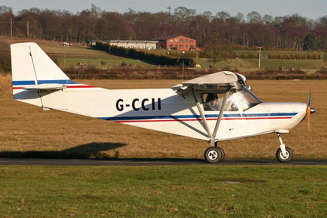 G-CCII - 2003 build ICP MXP-740 Savannah, heading for departure at Halfpenny Green