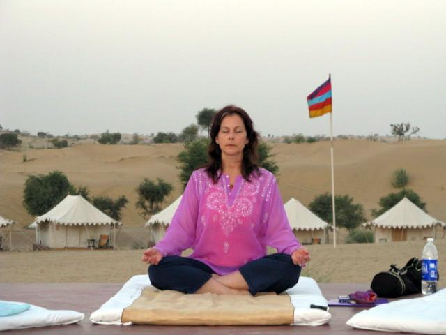 India - Wilma Meditating