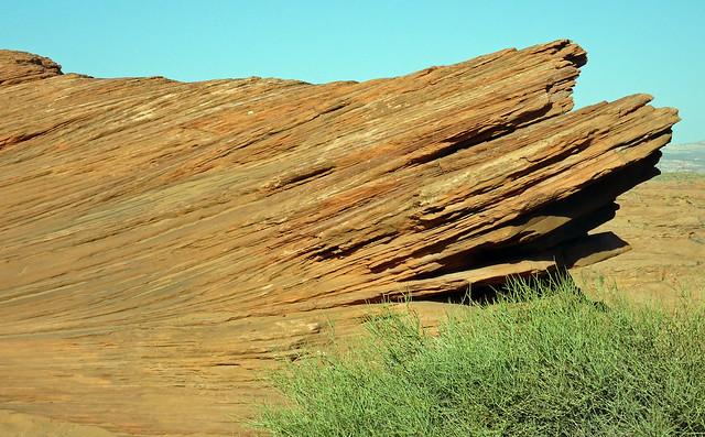 Weird rock formations near Page, AZ
