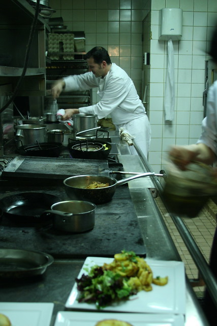 The kitchen at Chez Dumonet, Paris