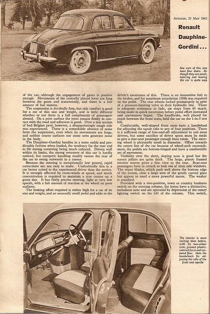 Renault Dauphine Gordini Road Test 1962 (3)