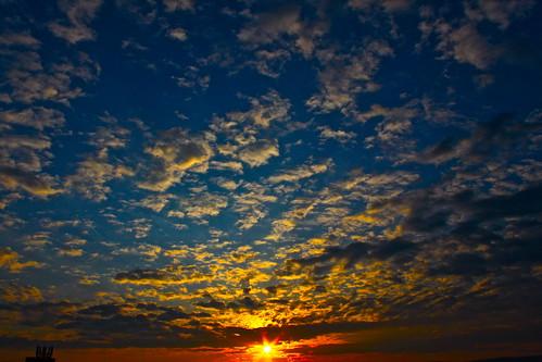 sky sun clouds sunrise dawn spectrum