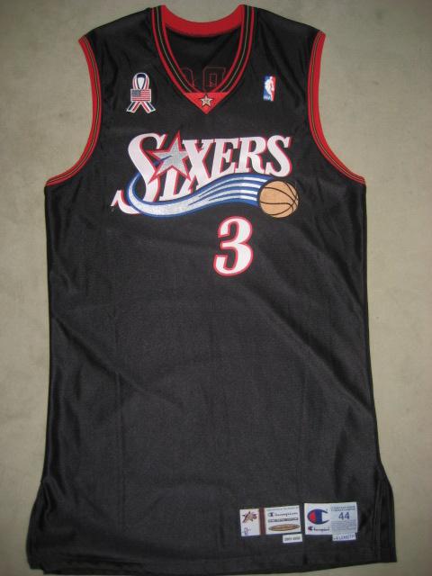 low priced 78fcc d39da Allen Iverson 2001/02 Philadelphia 76ers Game Worn Jersey ...