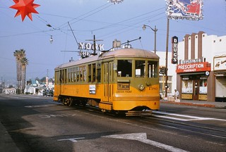 010 - Los Angeles Transit Lines W Line Car 1280 York Blvd. & Ave. 50 Terminal 19541220   by Metro Transportation Library and Archive
