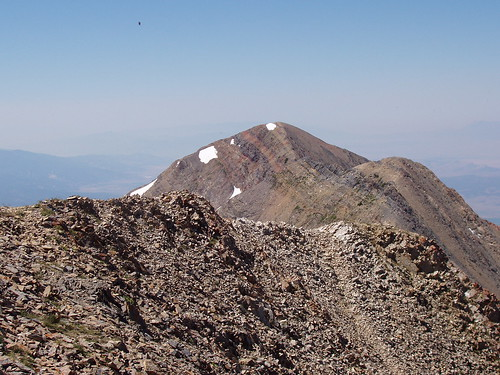 Middle and south summits of Mount Nebo, as seen from the north summit.
