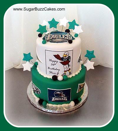 Admirable Philadelphia Eagles Football Cake Carol Flickr Funny Birthday Cards Online Hendilapandamsfinfo