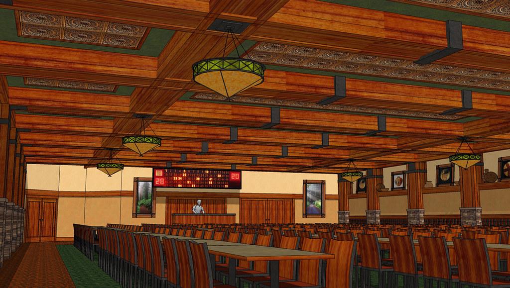 3d Bingo Room Design Lodge Style D 233 Cor Custom Interior
