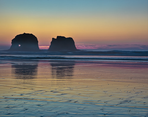 statepark sunset sea beach grass oregon coast path 101 coastal rays bluehour manual garibaldi hdr pathway rockaway twinrocks janusz nehalembay parttwo leszczynski 000242 rockwiththehole