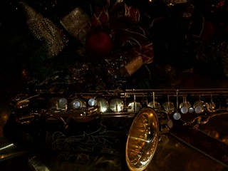 Christmas Alto Saxophone under the tree | by Papa Sax