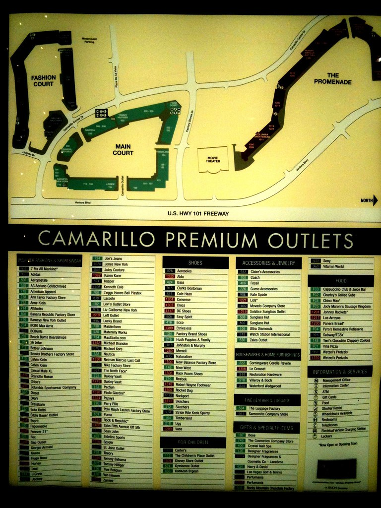 Camarillo Premium Outlets Map | Arnold | Flickr on