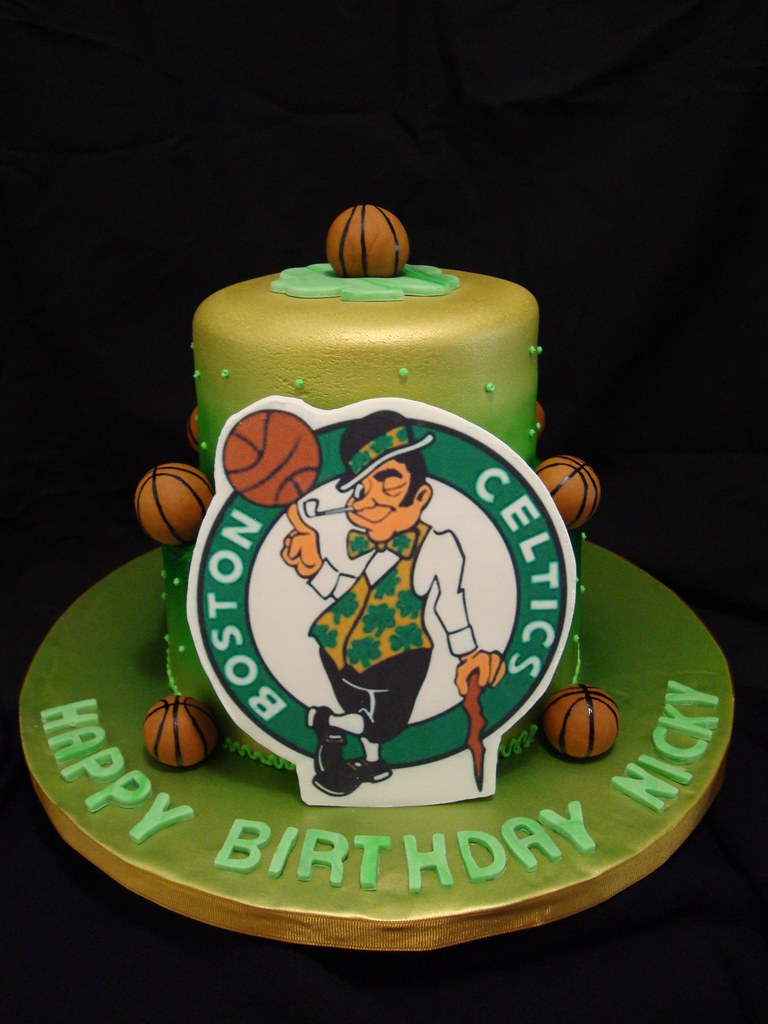 Marvelous Boston Celtics Birthday Cake A Photo On Flickriver Personalised Birthday Cards Paralily Jamesorg