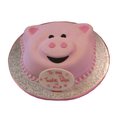 Amazing Pink Piggy Birthday Cake This Perky Pink Poker Is Guarante Flickr Funny Birthday Cards Online Necthendildamsfinfo