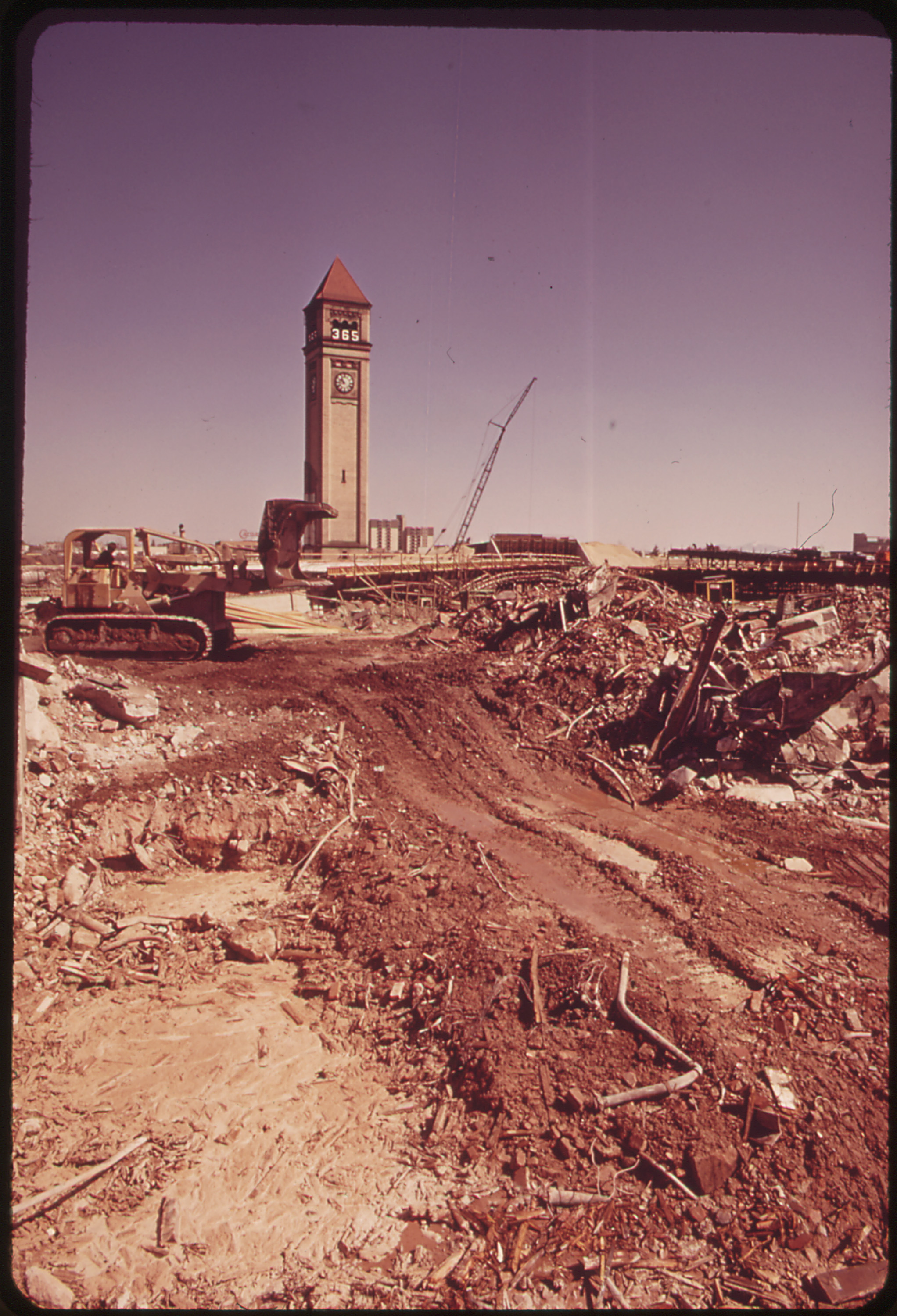 Construction on Site of Expo 74. Environment Will Be the Theme 05/1973