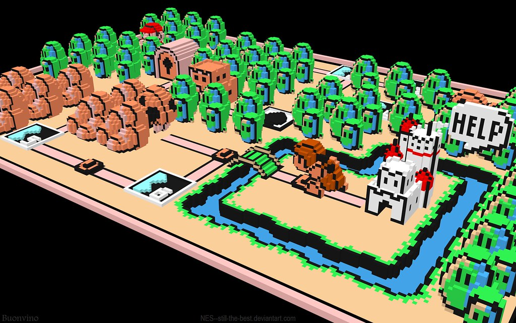 nes super mario bros 3 map