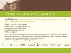 2010. február 25. 13:29 - San Marco Szabadegyetem: Prof. Dr. Halmos Tamás