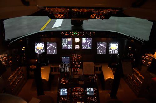 school john airplane university d aviation north jet cockpit 200 simulator dakota sciences regional aerospace collegiate crj bombardier canadair odegard