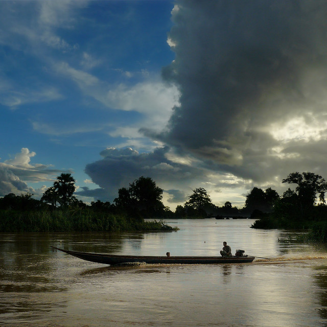 Sunset clouds over the Mekong