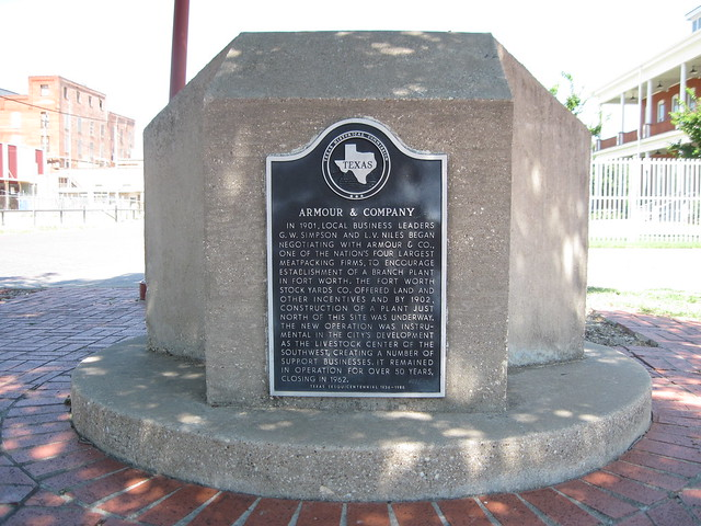 Armour & Company, Ft. Worth Texas Historical Marker