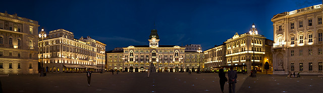 Trieste Town Square  at Night