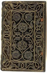 16th century embroidered velvet book with scroll and floral pattern. | by Aria Nadii