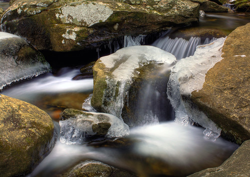 longexposure ice water creek river waterfall nc rocks northcarolina icy hdr naturephotography southmountainsstatepark jacobsfork davidhopkinsphotography ncpedia