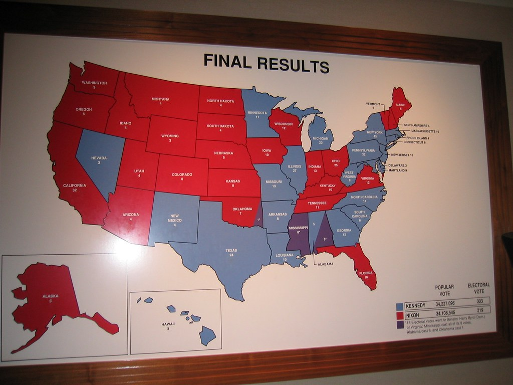 JFK Library - Kennedy-Nixon Election Results Map 1   Flickr