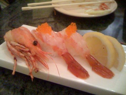 Amaebi (Sweet Shrimp) Nigiri Sushi | by joeysplanting