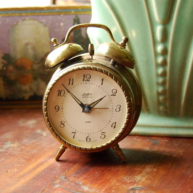 Vintage Brass Alarm Clock, Linden Black Forest - a photo ...