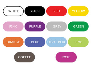 color chart of wall stickers