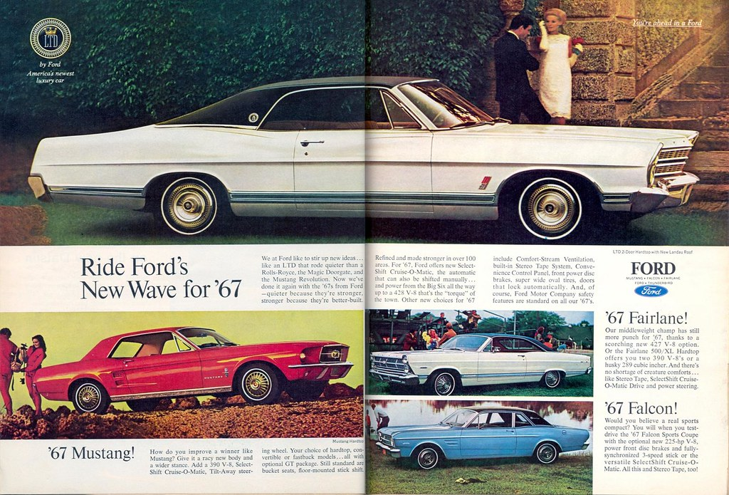 1967 Ford Ad | AD for the 1967 Ford Mustang, 1967 Ford LTD