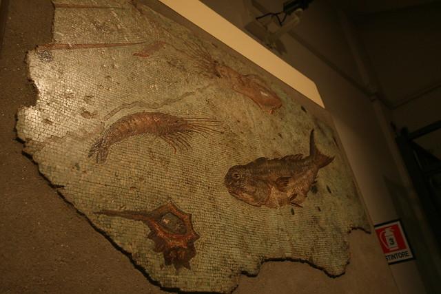 Fish mosaic at Centrale Montemartini, Rome