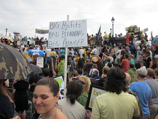 NOLA BP Oil Flood Protest Big Profits Bad Planning