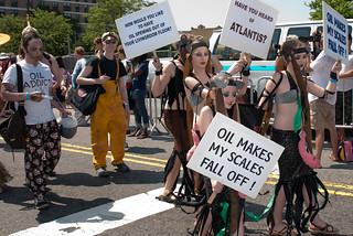 Coney Island Mermaid Parade 2010-BP Protest