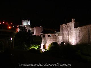 Dubrovnik City Walls By Night