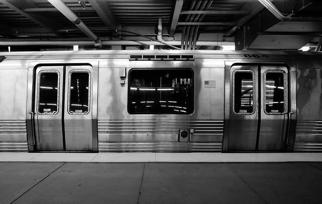 New York PATH train subway car