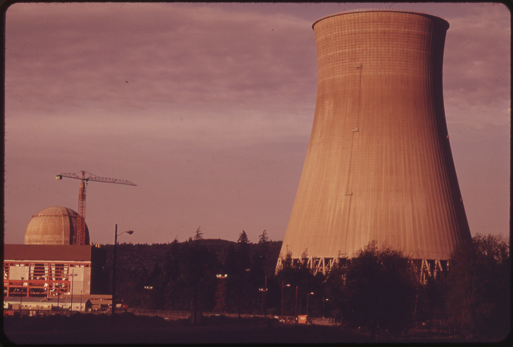 Trojan Nuclear Plant at Ranier on the Columbia River. Built by the Portland General Electric Company Under an Aec Permit, the Project Has Met Stiff Opposition From Environmentalists and Others 05/1973
