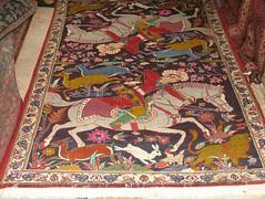 Bakhtiari Hunting Persian Rug Children Horses