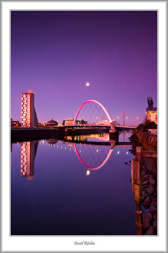 winter sunrise scotland riverclyde glasgow finnieston supershot theclydearc