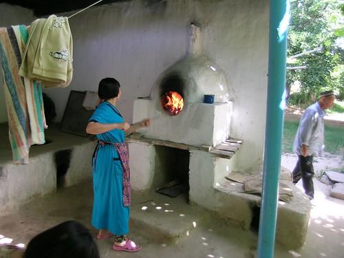 Baking bread in Kazakhstan